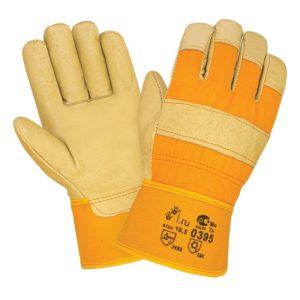 """Кожаные комбинированные зимние перчатки """"TZ-61"""""""