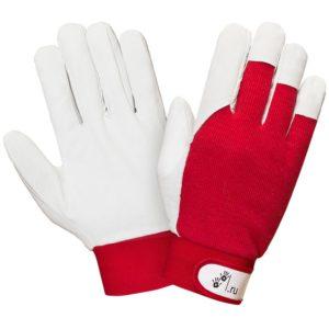 """Кожаные комбинированные перчатки на велкро """"TZ-42"""""""