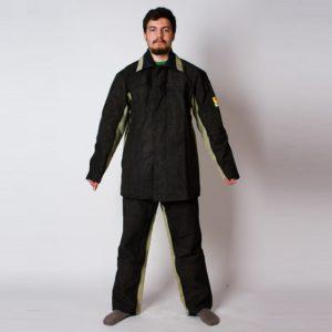 """Костюм сварщика брезентовый с накладками из спилка """"Модель 2.9"""" с брюками"""