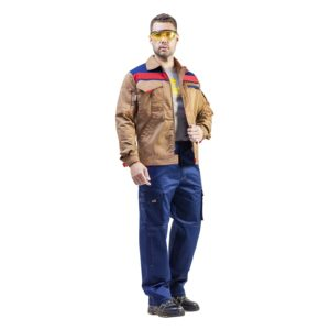 """Куртка рабочая """"Ральф"""" цв. беж/синий"""