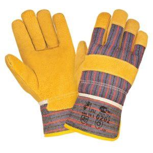 """Спилковые комбинированные зимние перчатки """"TZ-59"""""""
