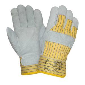 """Спилковые комбинированные зимние перчатки """"TZ-64"""""""