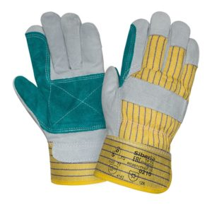 """Спилковые комбинированные зимние перчатки """"TZ-65"""""""