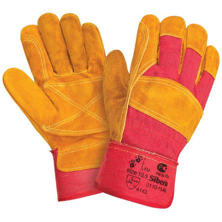 """Спилковые комбинированные перчатки """"TZ-85 Siberia"""""""