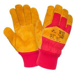 """Спилковые комбинированные утепленные перчатки """"TZ-88 Siberia"""""""