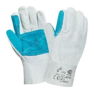 """Спилковые усиленные перчатки """"TZ-36"""""""
