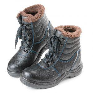 Высокие ботинки «Строитель» Нитрил с КП (шерст. мех) - 8.